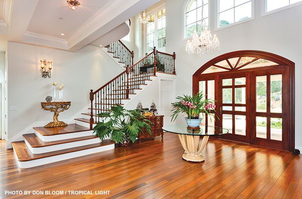 Maui Plantation Home staircase