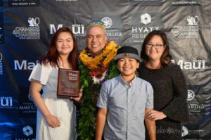 2019 chef of the year with family