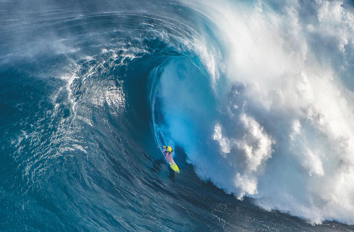Makua Rothman on Jaws, Maui