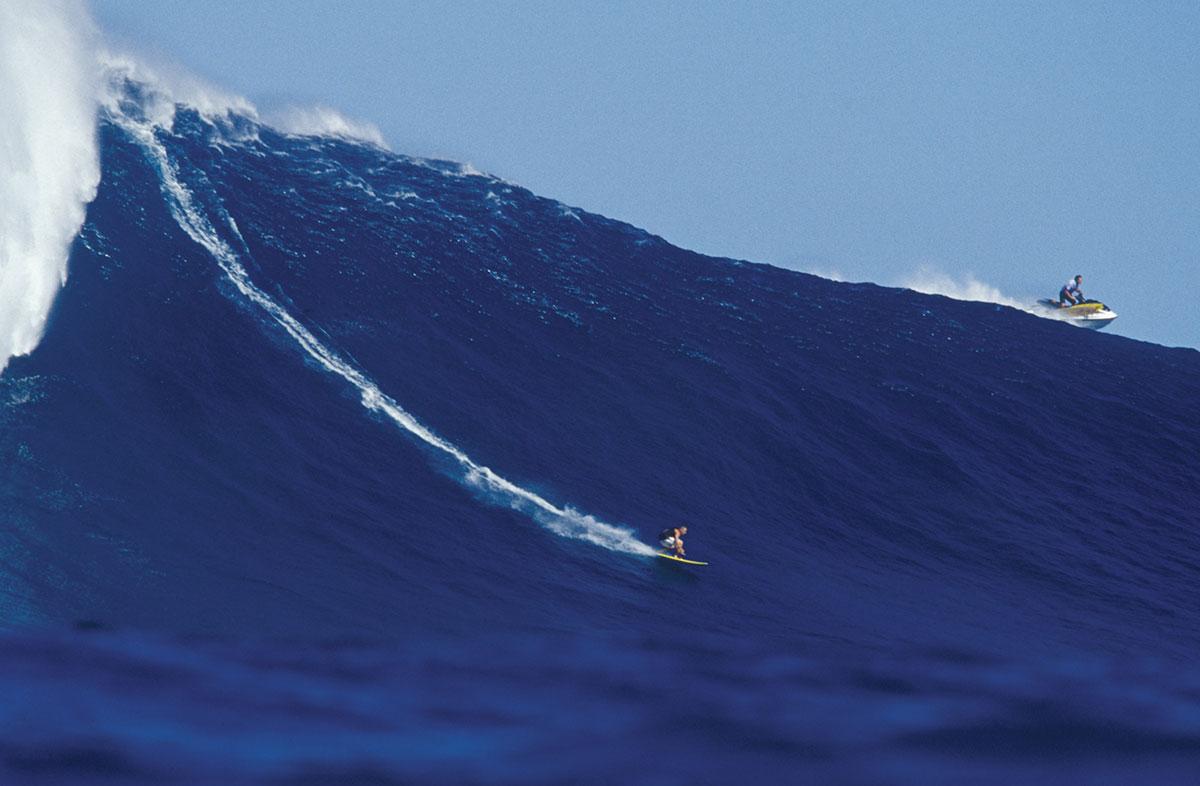 Pete Cabrinha on Jaws, Maui