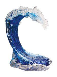 Maui glass wave art