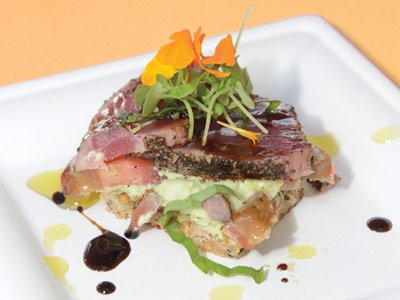 Ahi Bruschetta recipe
