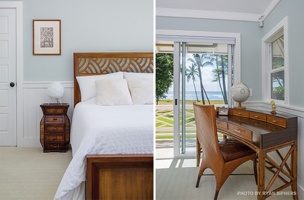Maui beach house master bedroom