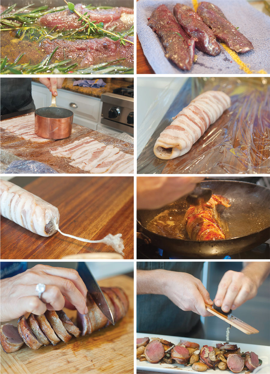 Bacon wrapped venison instructions