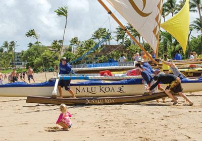 Maui canoe race