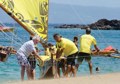 Maui sailing canoes