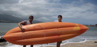 kayak with shark bite