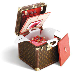 Louis Vuitton cake box purse