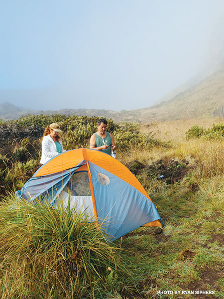 Haleakala Crater camping