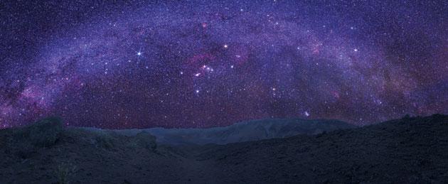 Milky Way night sky over Maui