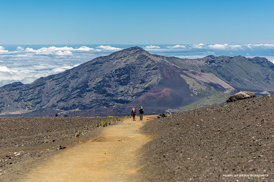Haleakala hiking trail