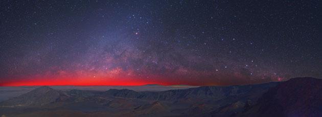 Haleakala starry night sky photo