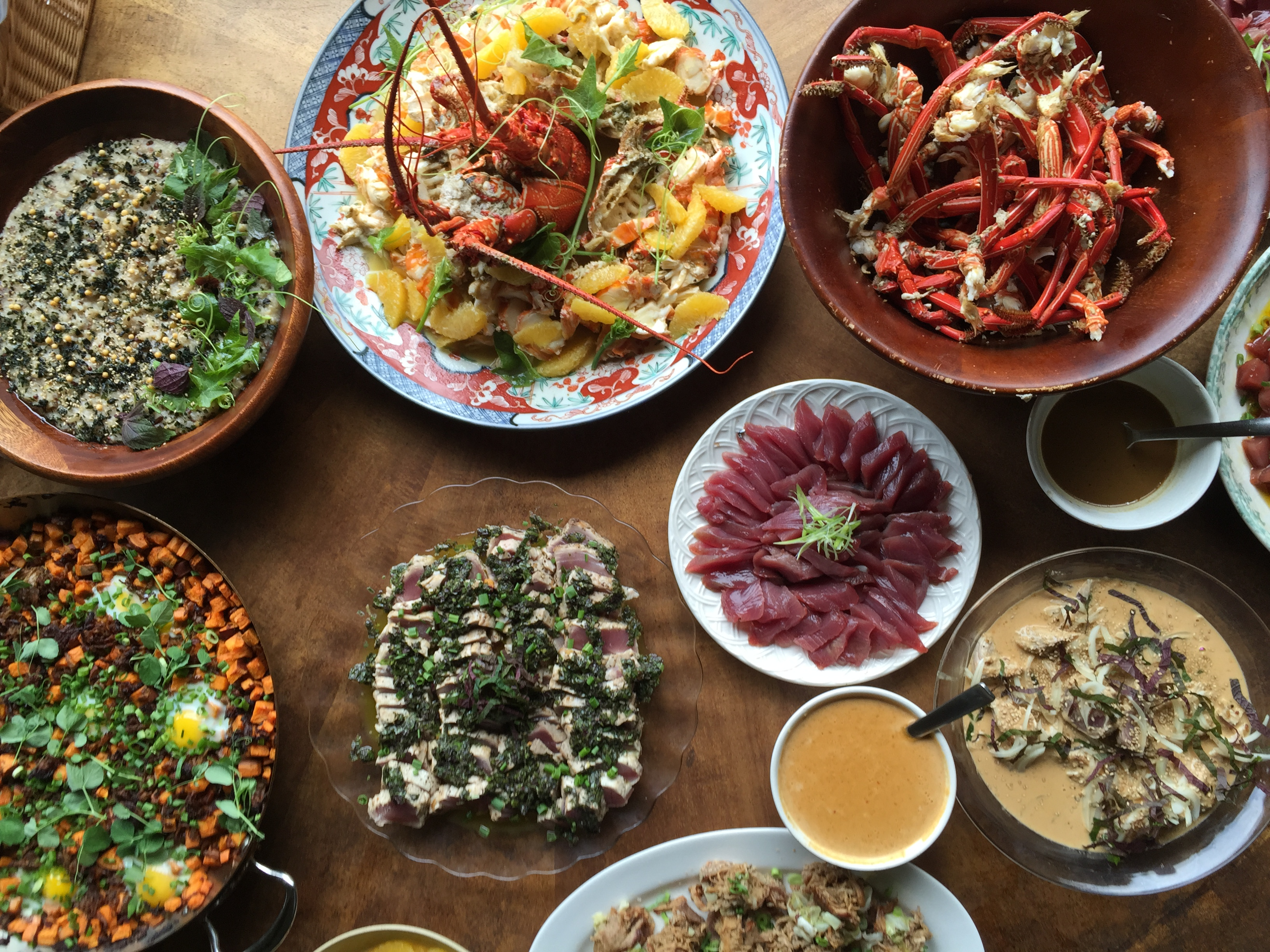 A Hāna Kū brunch spread that's almost too pretty to eat...well, almost.