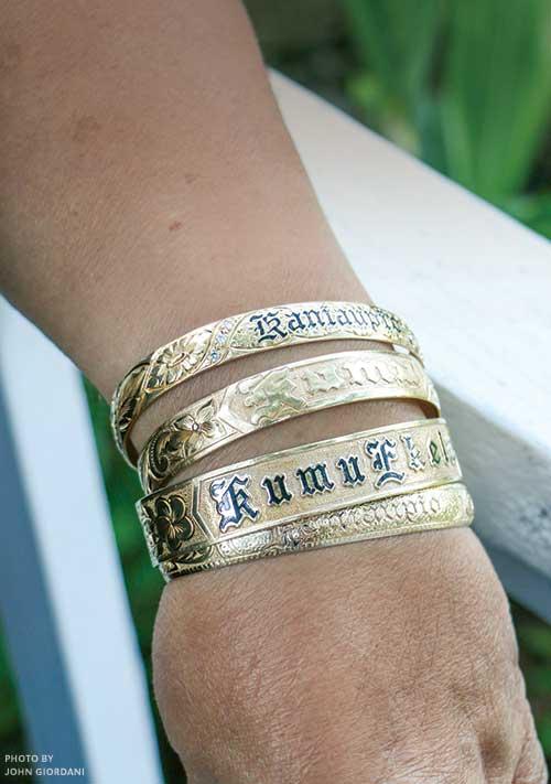 Hawaiian Bracelets Gold Heirloom Hawaii Links