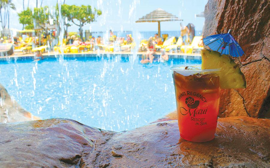 Maui Hyatt pool bar
