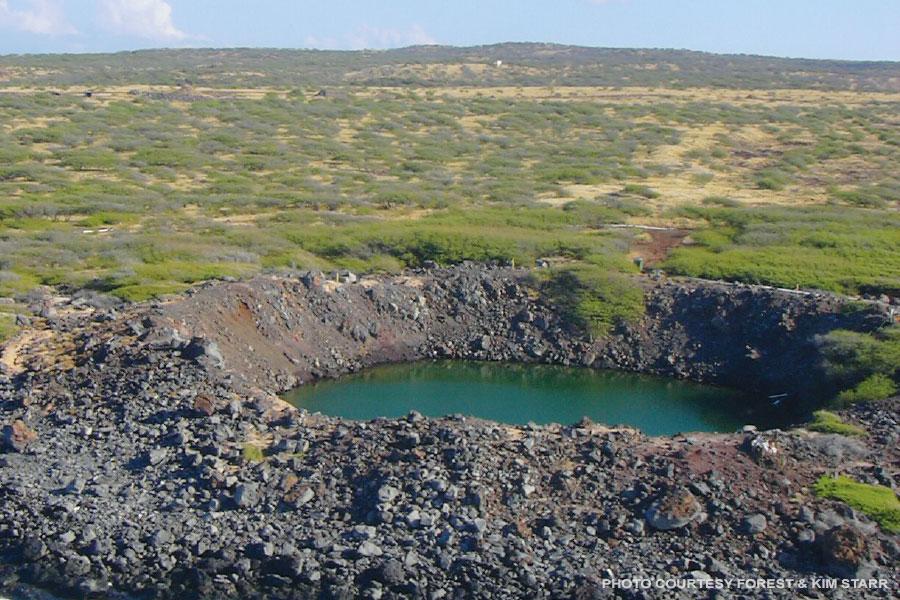 Kahoolawe bomb crater