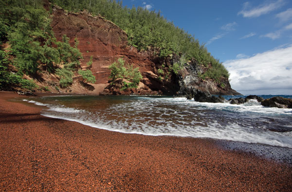 Kaihalulu Red Sand Beach Maui