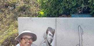 Kirk Kuorkawa painting mural