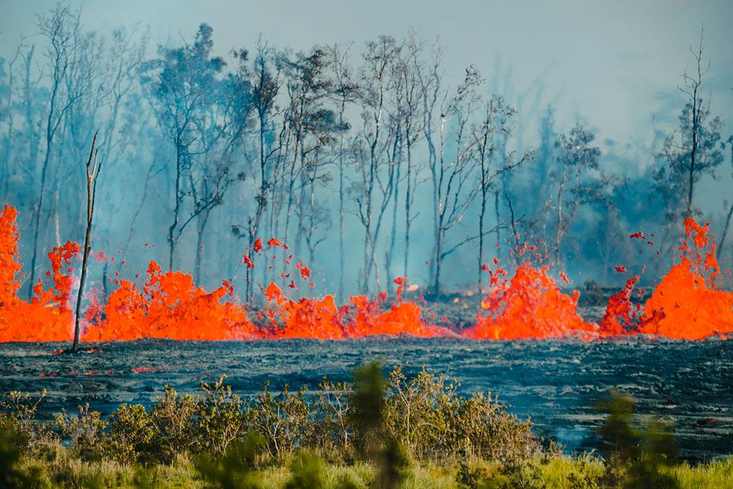 Hawaii Big Island Lava Flow