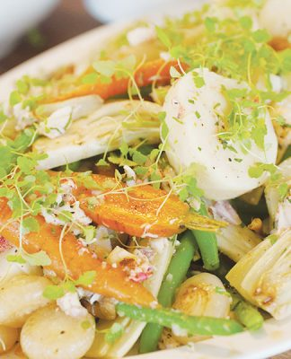 Lobster vinaigrette with vegetables