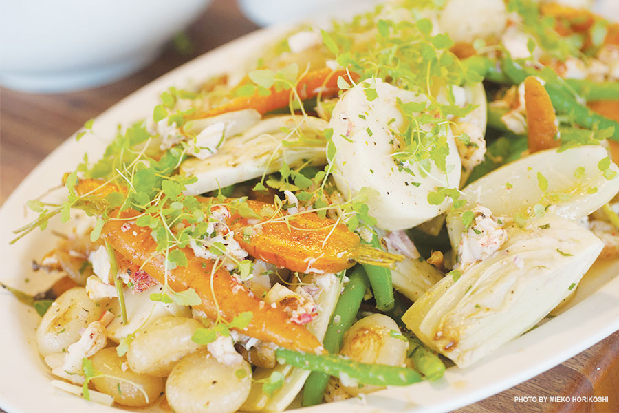 Lobster vinaigrette with vegetables