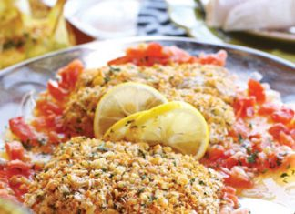 mac nut crusted mahimahi