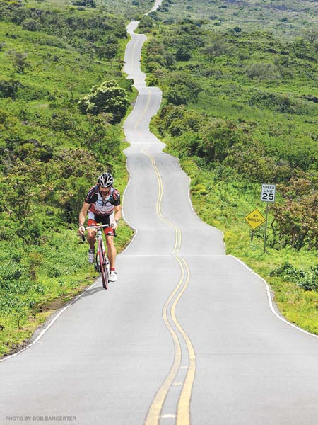 upcountry bike ride in maui