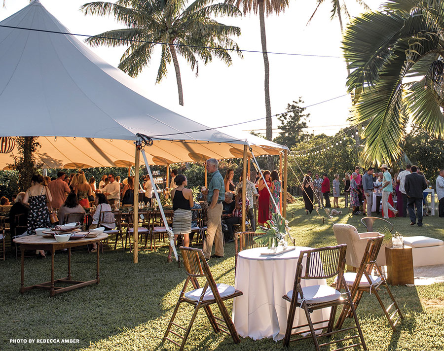 Maui chef wedding