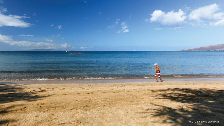 Maui running beach