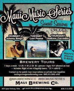 Maui Brewery Sunset Music Sessions
