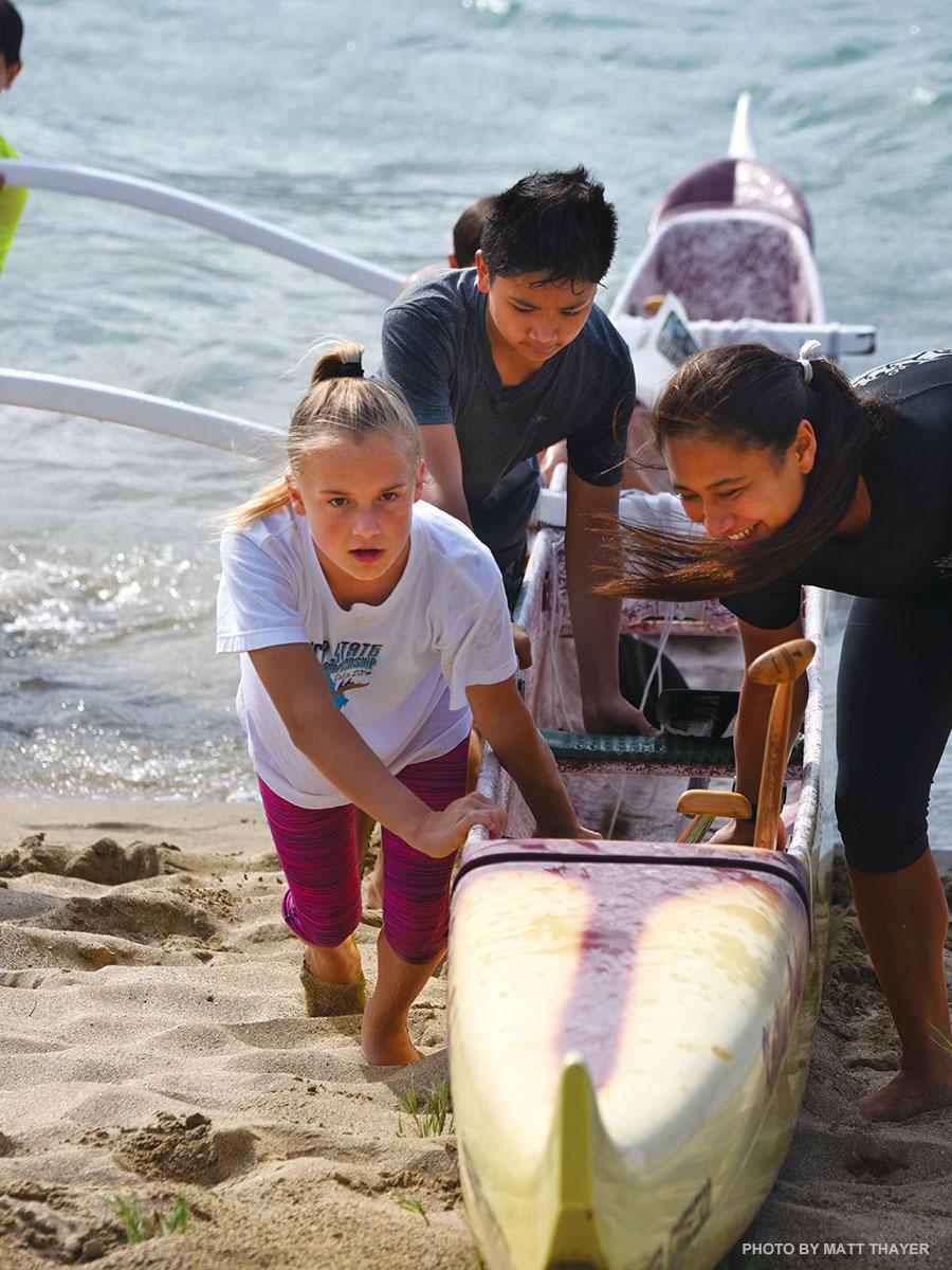maui canoe club for kids