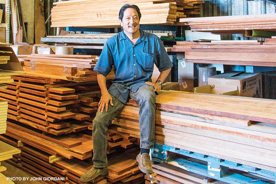 maui woodworker Eddie Takayesu