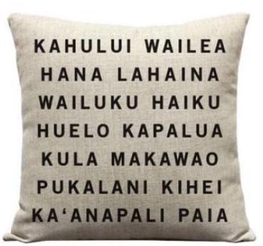 Maui scroll linen pillow cover