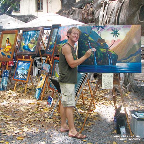 Lahaina banyan tree artist