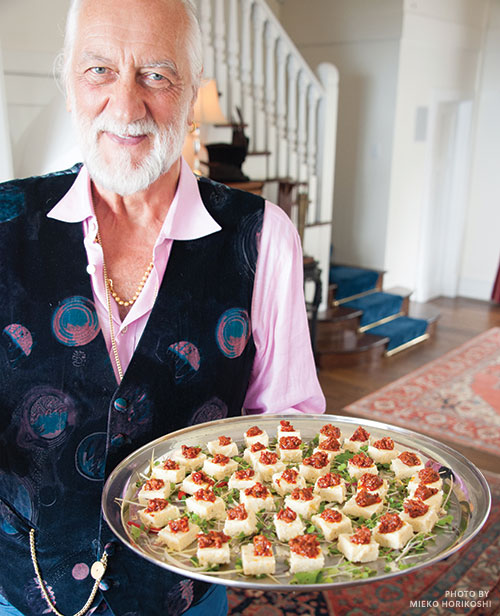Mick Fleetwood with polenta pupu