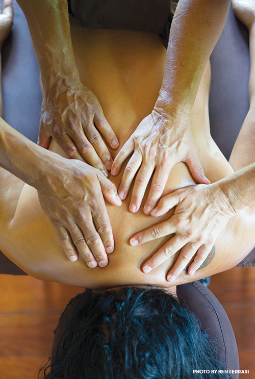 four handed massage maui