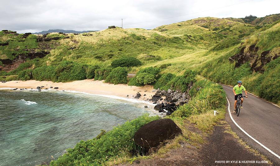 bicycling Molokai Hawaii