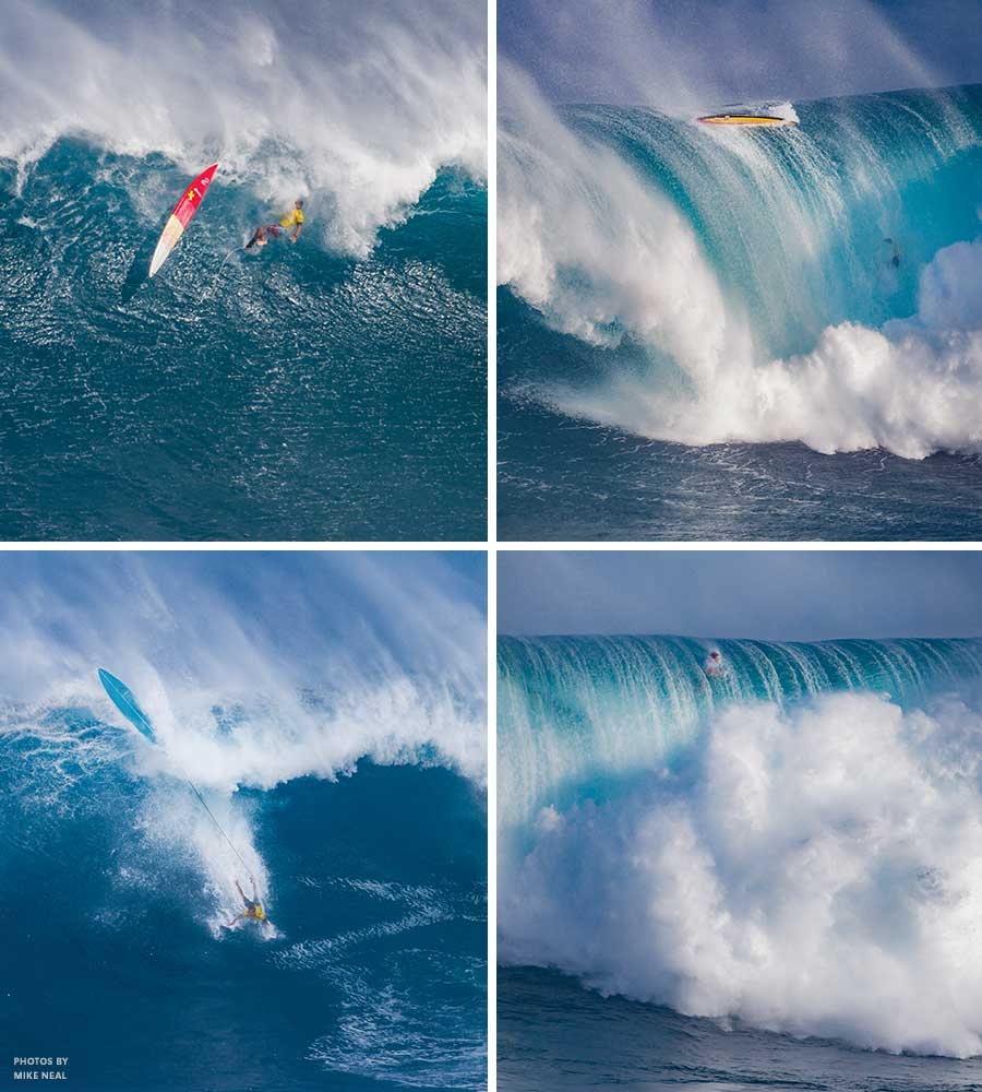 Peahi challenge wipeouts