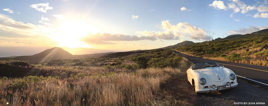 Kanaio Maui road trip Porsche