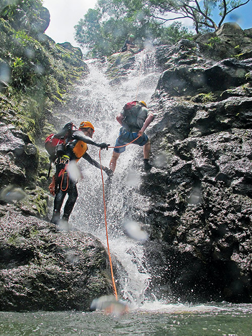 Waterfall Rappelling in Maui
