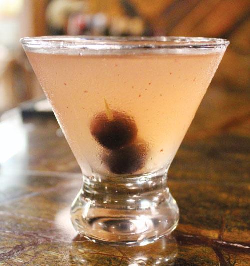 pickled grape martini