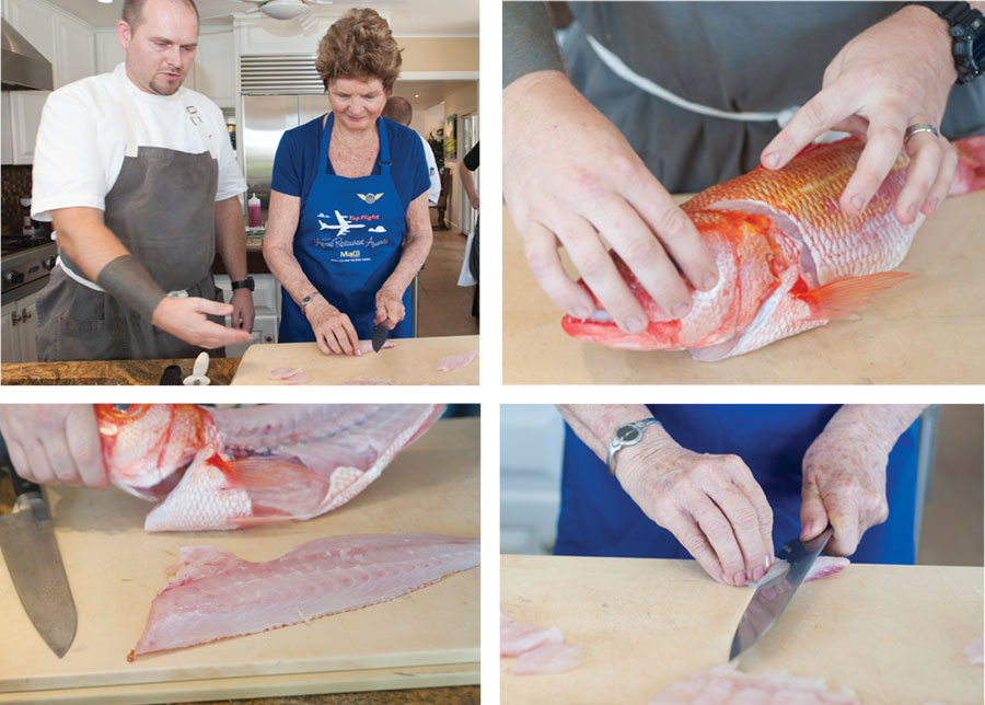 how to cut raw fish