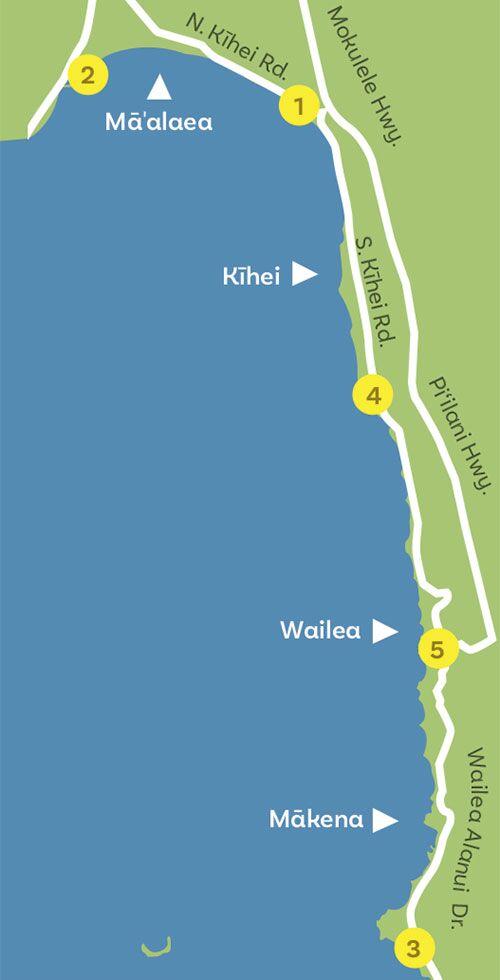 south maui day trip map