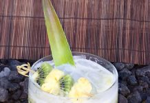Spicy Caipirinha cocktail