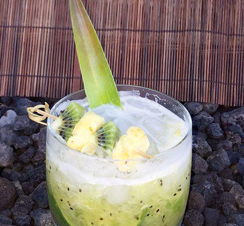 Spicy Caipirinha cocktail