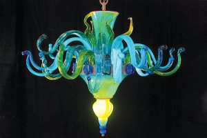 Strini blown glass chandelier