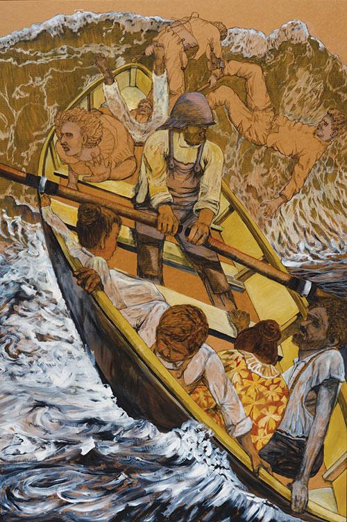 Landing of the Exiles by Robert Suzuki