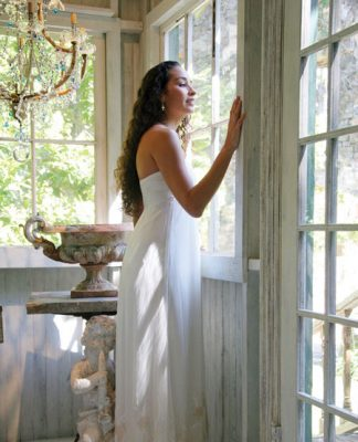 Tamara Catz wedding dress Maui