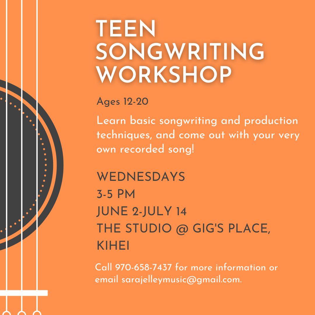Teen Songwriting workshop