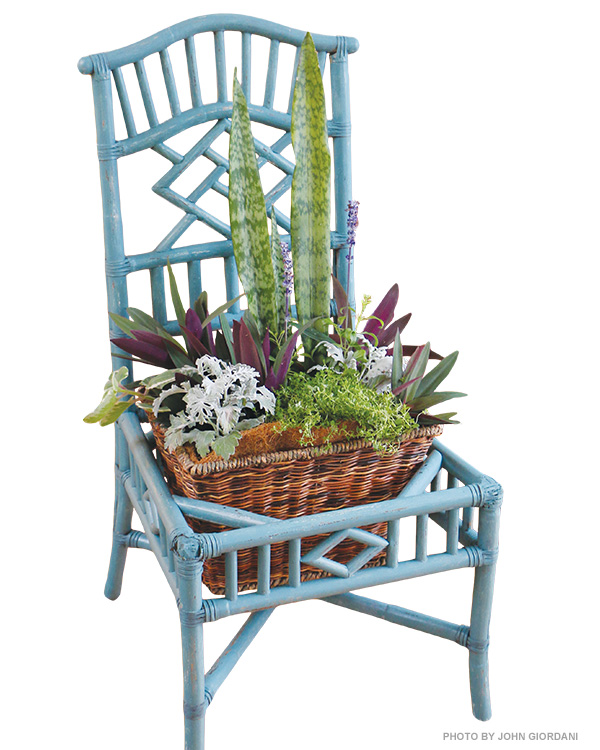 DIY chair planter project